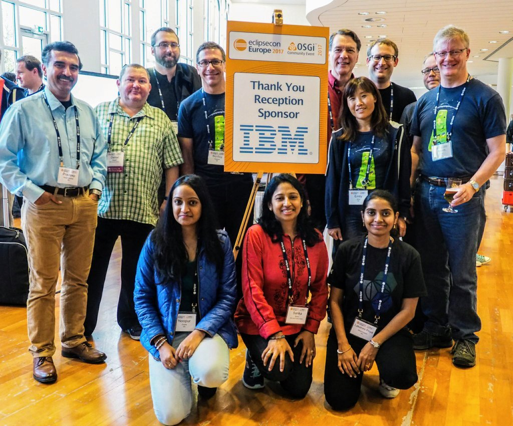 Group photo of IBMers at EclipseCon